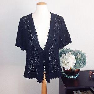 Lane Bryant short sleeve knit cover up sz 18/20